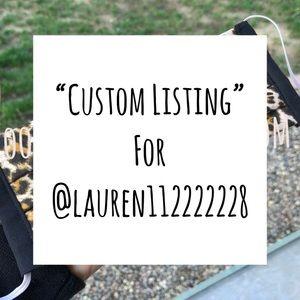 Custom Listing for @Lauren22222211